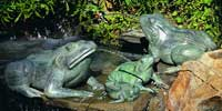 "23"" Crouching Frog Water Fountain"