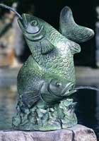 Large Entwined Fish Water Fountain