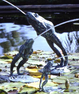 Medium Leaping Frog Water Fountain