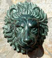 Lion Face Spouting Wall Plaque Fountain
