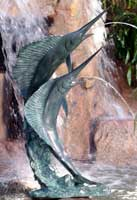 Large Marlins Water Fountain