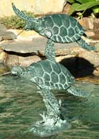 Double Sea Turtle Water Fountain