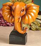 Maple Wood Elephant Head Statue