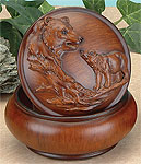 Faux Wood Bears Trinket Box