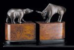 """Wall Street"" Bull & Bear  Bookends"