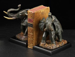 Bronze Elephant Bookends