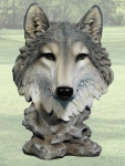 """Gosheven"" Wolf Head Sculpture"